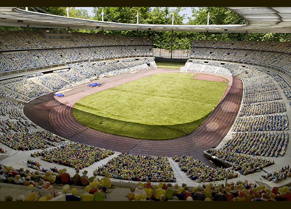 Football Stadium Stade De France France Miniature